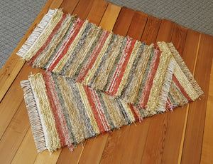 "Kitchen, Bedroom or Door Entry Rug Set - 24"" x 49"" & 24"" x 45""-Burnt Orange"