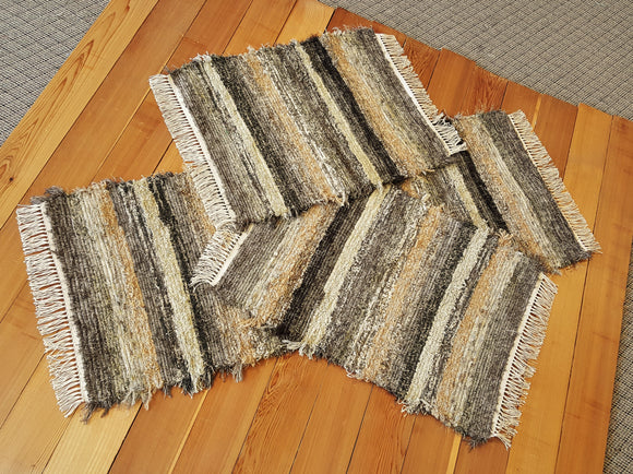 Kitchen or Bedroom Runner & 2 Small Rugs Set - 24