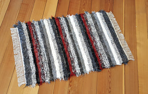 "Kitchen, Bedroom or Door Entry Rug - 28"" x 42"" - Red, Black, Gray & White"