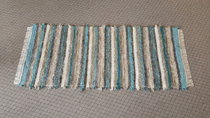 "Entry Way, Bedroom, Nursery or Dorm Room Rug - 36"" x 6' 8"" Teal & Chocolate"