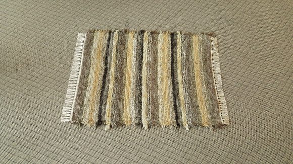 "Entry Way, Bedroom, Nursery or Dorm Room Rug - 36"" x 45"" Olive & Taupe"