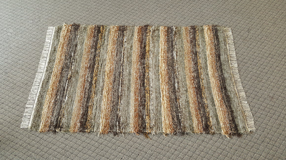 Bedroom, Nursery, Entry Way or Dorm Room Rug - 4' x 6'  Olive & Taupe