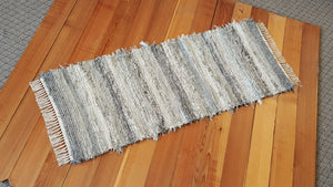 "Kitchen or Hallway Runner Rug - 24"" x 61"" Gray, Tan & Oatmeal"
