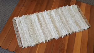 "Kitchen or Hallway Runner Rug - 28"" x 61"" Ivory & Creme"