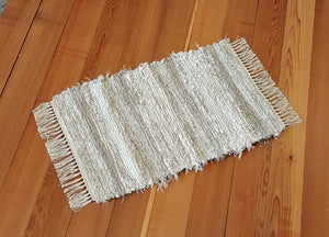 "Kitchen, Bathroom or Door Entry Rug - 20"" x 32"" Tan & Oatmeal"