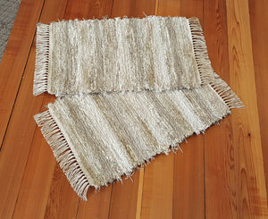 "Kitchen, Bathroom or Door Entry Rug Set - 20"" x 31"" & 20"" x 31"" - Tan & Oatmeal"