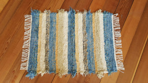 "Kitchen, Bathroom or Door Entry Rug - 24"" x 35"" Country Blue"