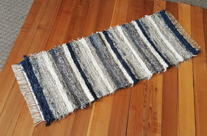 "Kitchen or Hallway Runner Rug - 24"" x 61"" - Navy & Gray"