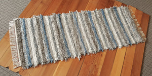 "Kitchen or Hallway Runner Rug - 24"" x 6' 1"" Country Blue & Gray"