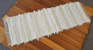 "Kitchen or Hallway Runner Rug - 24"" x 6'24"" Ivory & Creme"