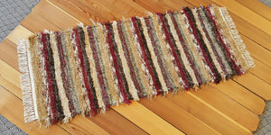 "Kitchen or Hallway Runner Rug - 24"" x 6' 2"" - Deep Red"