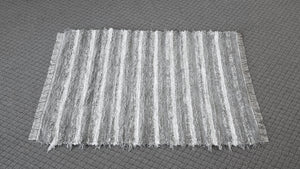 "Bedroom, Nursery, Entry Way or Dorm Room Rug - 4' x 5' 1""  Gray & White"