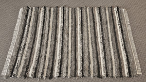 "Living Room, Sunroom, Nursery or Family Room Rug -5' x 7' 5""   Black, Tan & Gray"