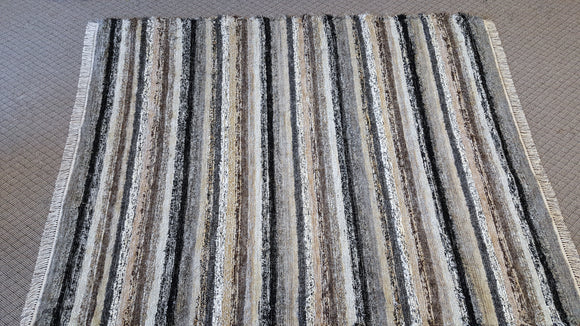 Living Room, Dining Room or Family Room Rug - 7' x 9' Black, Gray, Tan & Oatmeal