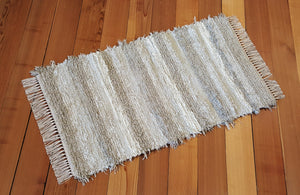 "Kitchen, Bedroom or Door Entry Rug  - 24"" x 43"" Taupe & Cream"