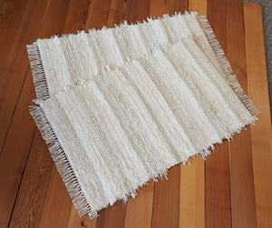 "Kitchen, Bedroom or Door Entry Rug Set - 28"" x 43"" & 28"" x 42"" Ivory & Cream"