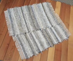 "Kitchen, Bedroom or Door Entry Rug Set - 28"" x 43"" & 28"" x 42"" Gray, Tan & Oatmeal"