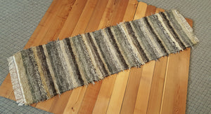 "Kitchen or Hallway Runner Rug - 24"" x 7' 2"" Olive & Taupe"