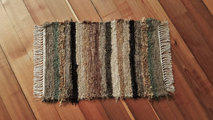 "Kitchen, Bathroom or Door Entry Rug - 20"" x 32"" Olive & Taupe"
