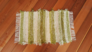 "Kitchen, Bathroom or Door Entry Rug - 20"" x 32"" Lime Green"