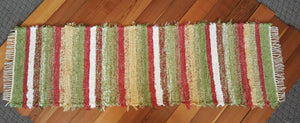 "Kitchen or Hallway Runner Rug - 24"" x 80"" Pink & Yellow"