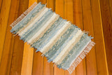 "Kitchen, Bathroom, Bedroom or Door Entry Rug - 24"" x 37"" Aqua & Honey"