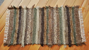 "Kitchen, Bedroom, Bathroom or Door Entry Rug - 24"" x 48"" Olive & Taupe"