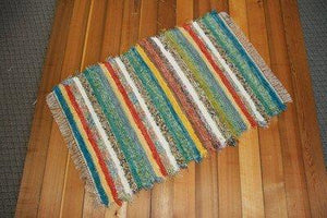 "36"" x 58"" Confetti U.S. HAND WOVEN Textured Throw Rag Rug"