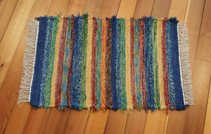"28"" x 43"" Fiesta U. S. Hand Woven Textured Medium Area Rag Rug"