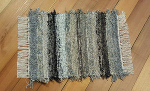 "Bathroom or Kitchen Rug - 20"" x 25"" Black,Gray,  Oatmeal, Tan & Brown"