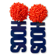 "University of Virginia Navy ""Hoos"" with Orange Beads"