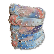 Velvet Tie Dye Headband with Pearls (3 COLORS)