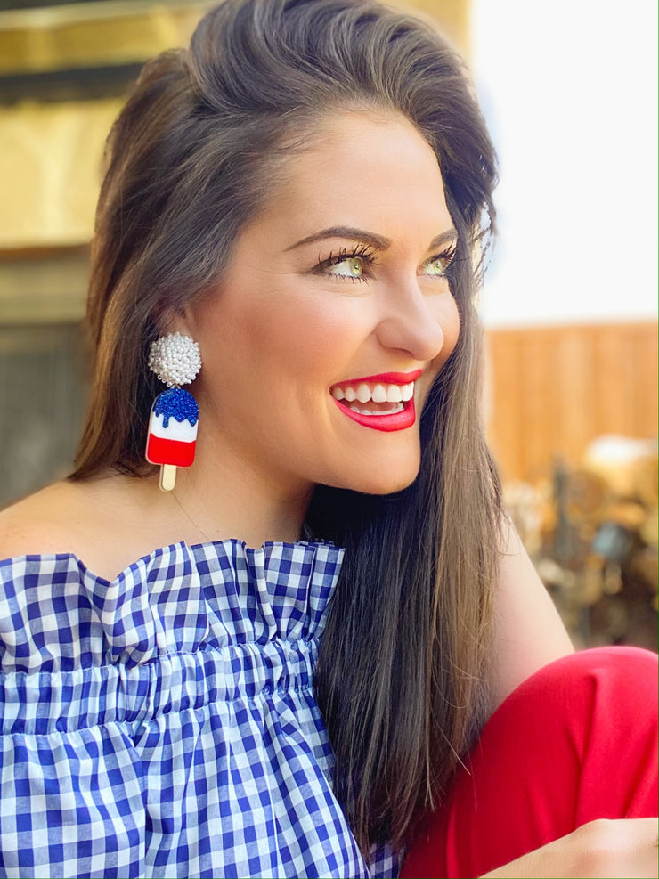 4th of July - Popsicle Earrings