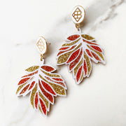 Fall 2020 - Mosaic Leaf Earrings