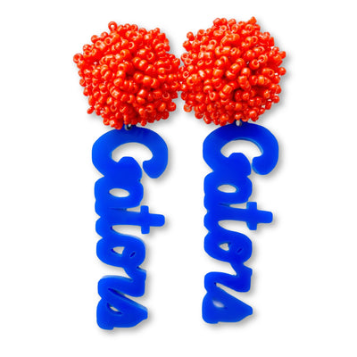 Florida Gators Script Blue with Orange Beaded Top