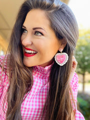 Valentine's 2021 - Heart Doily Earrings (TWO COLORS)