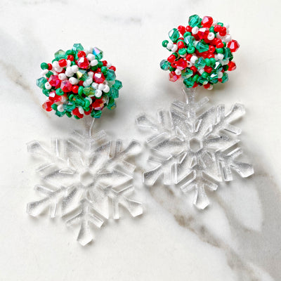 Christmas Party - Festive Snowflake Earrings