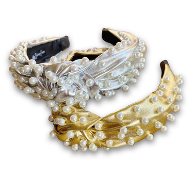Metallic Pearl Headband (2 COLORS)