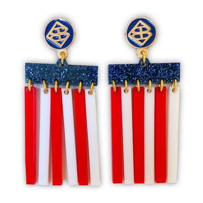 4th of July - Mod Flag Logo Earrings