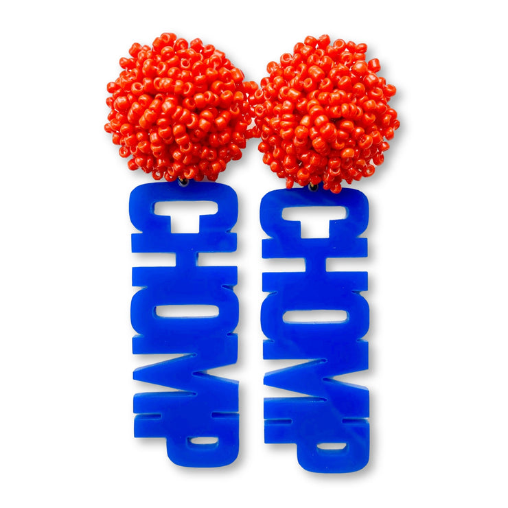 Florida Gators CHOMP CHOMP in Blue with Orange Beaded Top