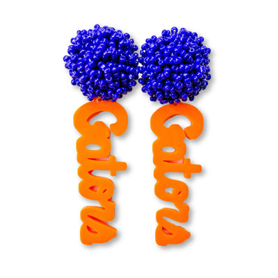 Florida Gators Script Orange with Blue Beaded Top
