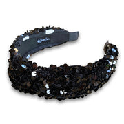 Black Sequin Knotted Headband