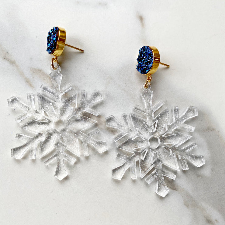 Christmas Party - Ice Queen Snowflake Earrings