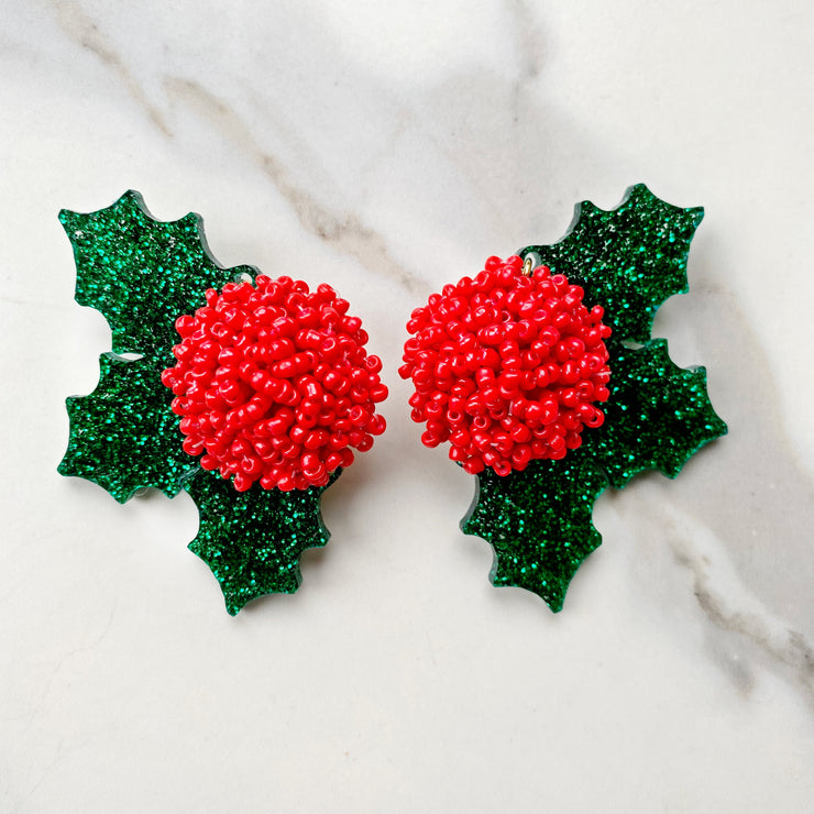 Christmas Party - Holly Jolly Earrings