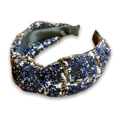 Navy Tweed Headband