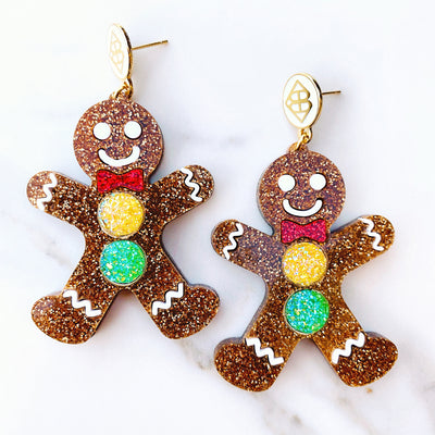 Mrs. Southern Social x Brianna Cannon - Gingerbread Earrings