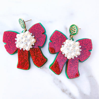 Mrs. Southern Social x Brianna Cannon - Red Bow Earrings