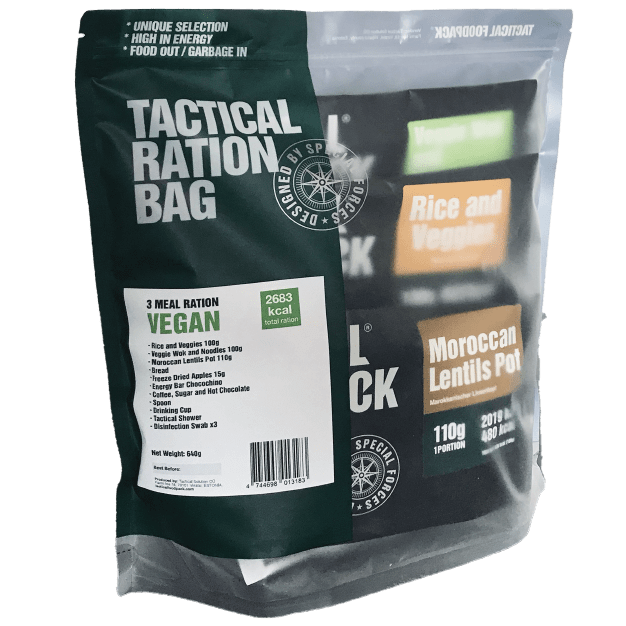 Tactical Foodpack 3 Meal Ration VEGAN