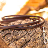 "1/2"" Dark Chocolate 6ft Leather Leash"