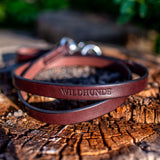 "3/4"" Dark Chocolate 6ft Leather Leash"